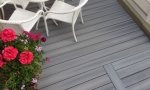 The composite decking offers almost a wood grain pattern to it.