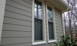 Double hung windows on this side of the home