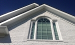 We replaced the eves along the front of the home...