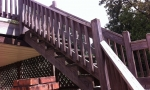 Old wood handrails can be a real safety hazard.