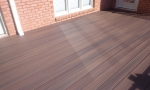 After Durante. The new deck is clean, sleek and no more splinters!