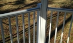 The maintenance free handrails will be sleek and durable for decades to come!
