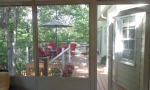 Looking out from the screen room onto the deck...