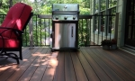 Customer now has a convenient grilling area just steps off the kitchen.