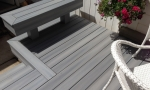 Durante Home Exteriors built a custom bench for additional seating.
