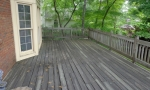 The old splintery deck...
