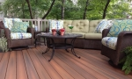 sitting area on one end of the new deck.