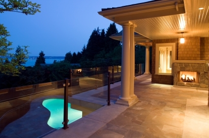deck patio luxury estate home vancouver british columbia canada