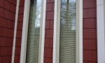 We installed new casement windows on the front of the home
