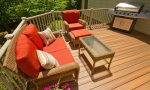 Composite decking will not splinter or warp like wood will.
