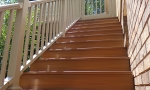 Durant replaced the old rickety steps with new composite stairs + handrails.