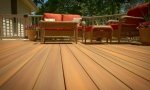 Durante composite decks come with hidden fasteners, meaning no screws or nails are required, so you only see the compsite.