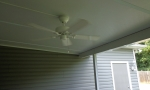 Our customer installed a ceiling fan.
