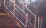New aluminum handrails with vinyl posts.