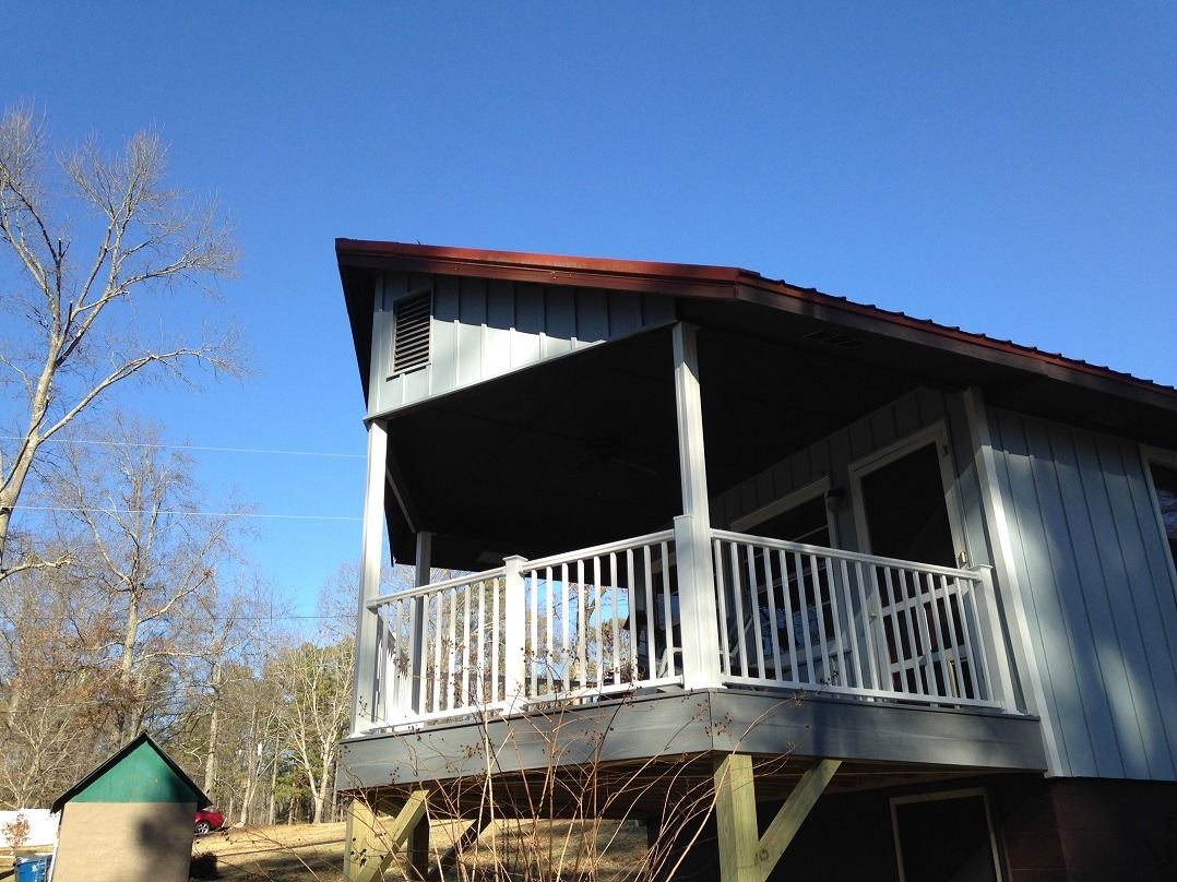 Mrs. Abernathy's New Deck And Siding