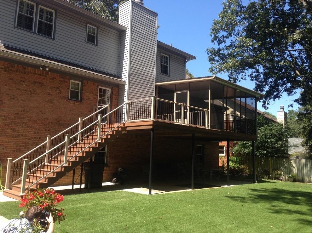 composite deck stairway