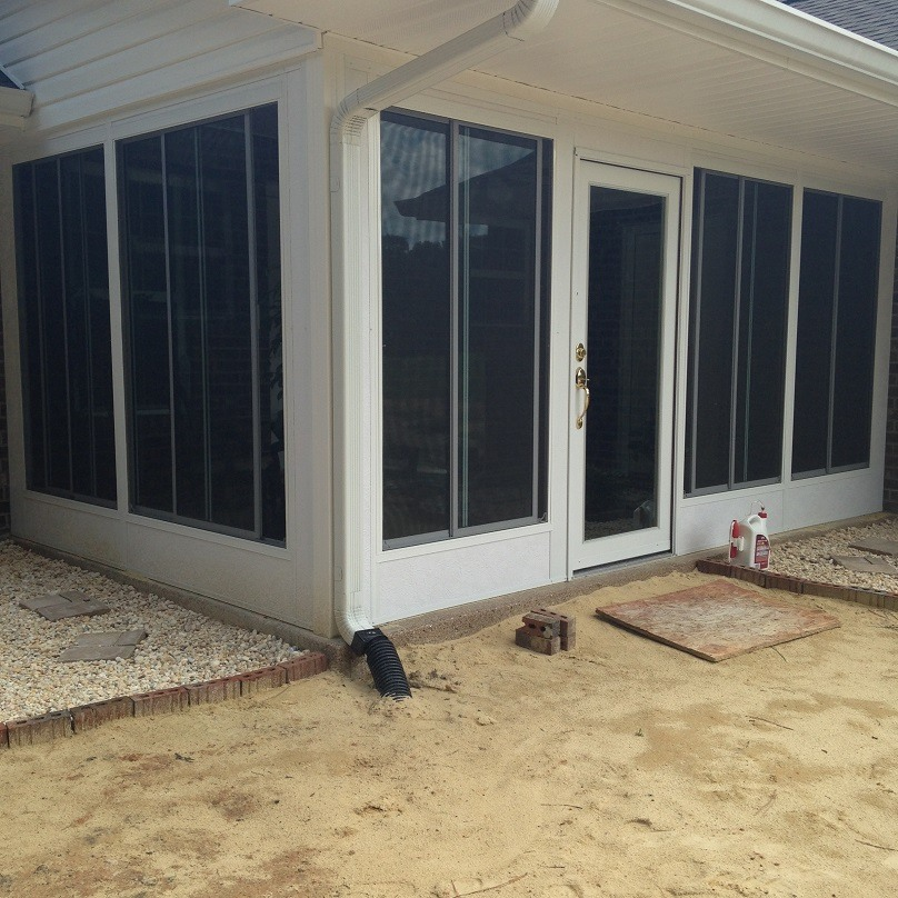new enclosed patio by Durante